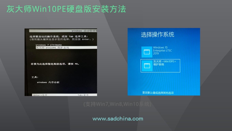 灰大师Win10PE安装到本地硬盘分区(B站视频)